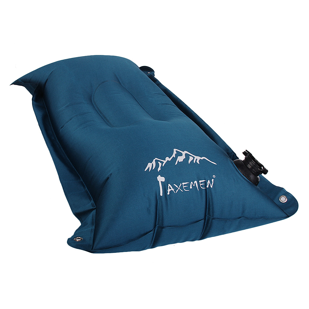 Inflatable Camping Pillow Outdoor Travel Head Rest Air Pillow 43x27cm Blue