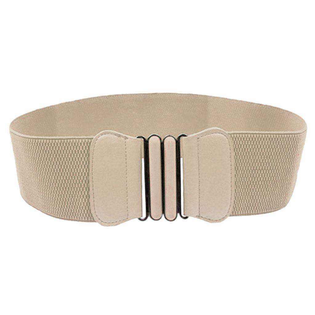 Donne PU Pelle Ampia Cintura In Vita Con Fibbia Elastica Cinture per Vestiti