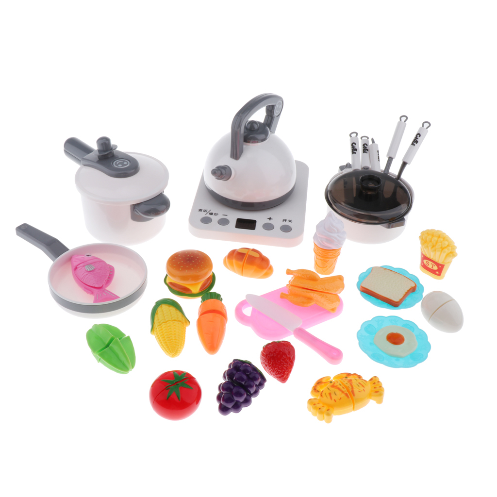 Kitchen-Pretend-Play-Accessories-Toys-Cookware-Set-Cooking-Utensils-for-Kids thumbnail 18