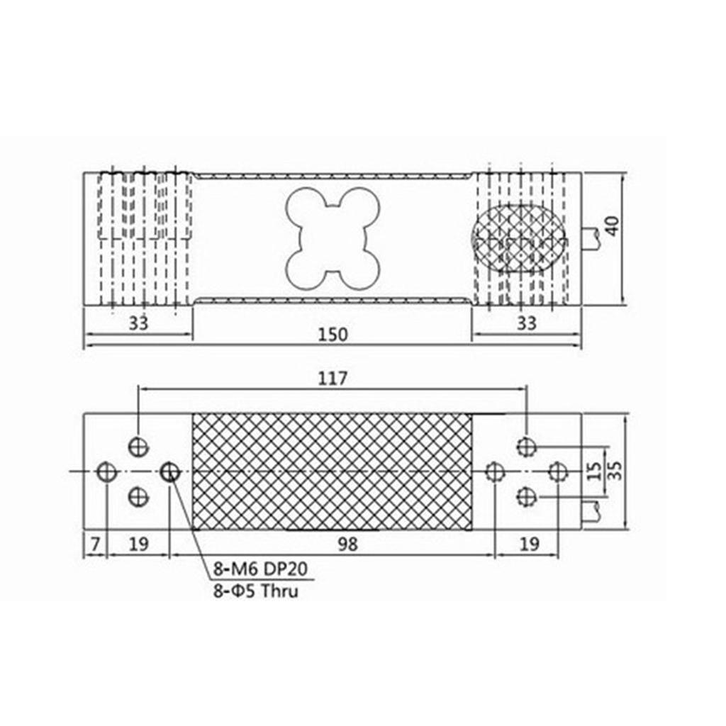 Electronic-100-200-300KG-Aluminium-Alloy-Sensor-Module-Load-Cell-Weight thumbnail 4
