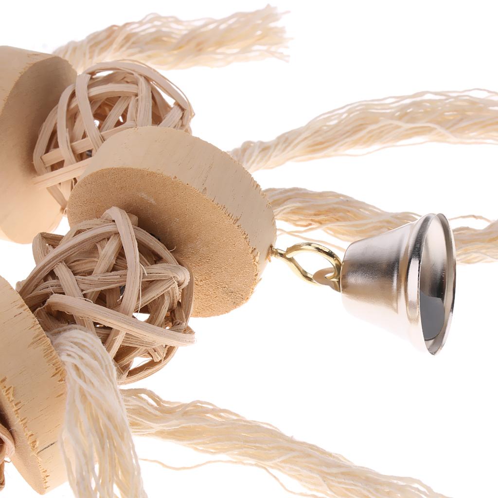 miniatura 22 - Pappagallo in legno per uccelli Giocattolo da masticare Giocattolo da masticare