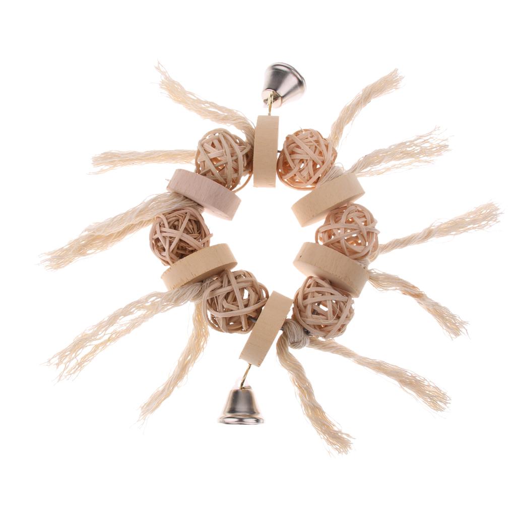 miniatura 21 - Pappagallo in legno per uccelli Giocattolo da masticare Giocattolo da masticare