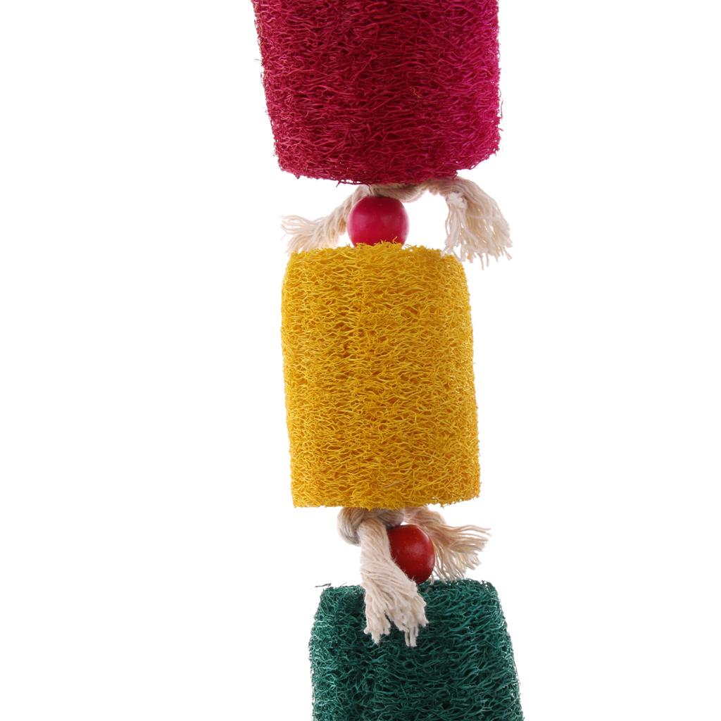 miniatura 49 - Pappagallo in legno per uccelli Giocattolo da masticare Giocattolo da masticare