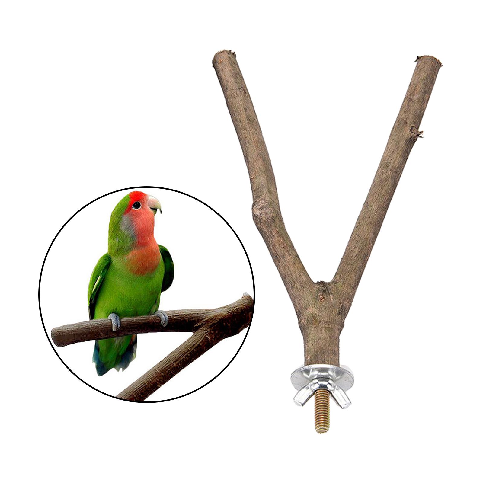 thumbnail 10 - Bird-Perch-Wood-Stand-Bird-Cage-Swing-Branch-for-Parrot-Parakeet-Cockatiel