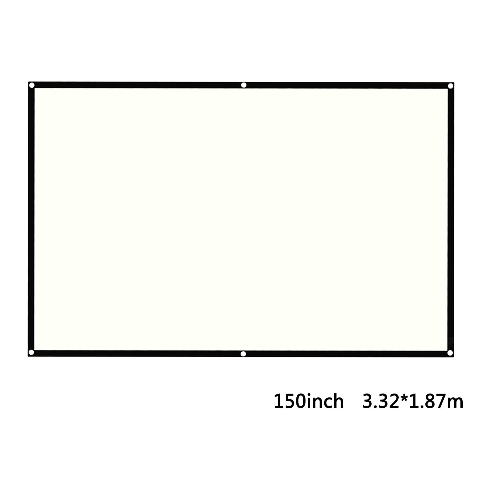 miniatura 18 - Schermo per proiettore portatile HD 16: 9 Proiezione home cinema per esterni