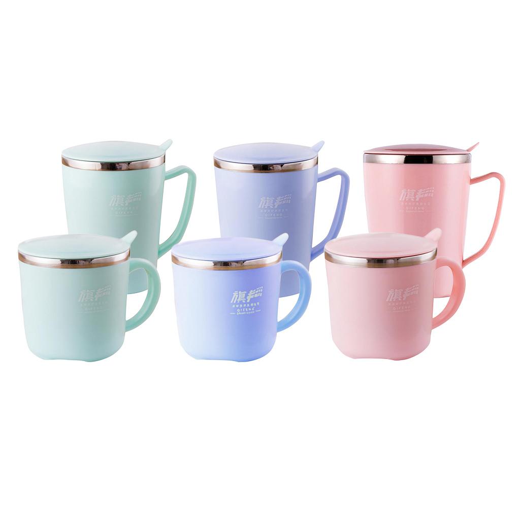 Kindertassen-Kaffeebecher-Kaffeetasse-Tee-Tasse-Becher-mit-Deckel-aus-Edelstahl Indexbild 3