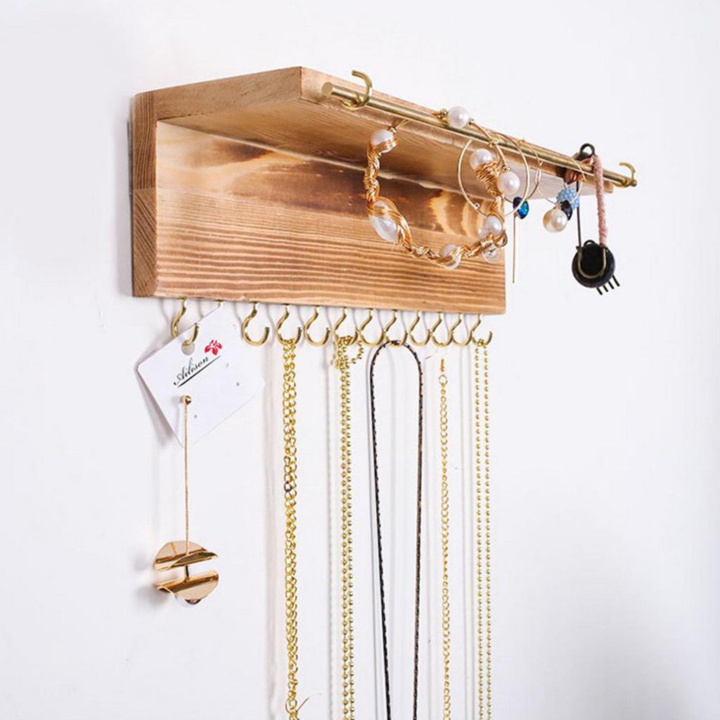3-Stueck-Schmuckhalter-Wand-Holz-Hakenleisten-Ohrring-Bar Indexbild 5