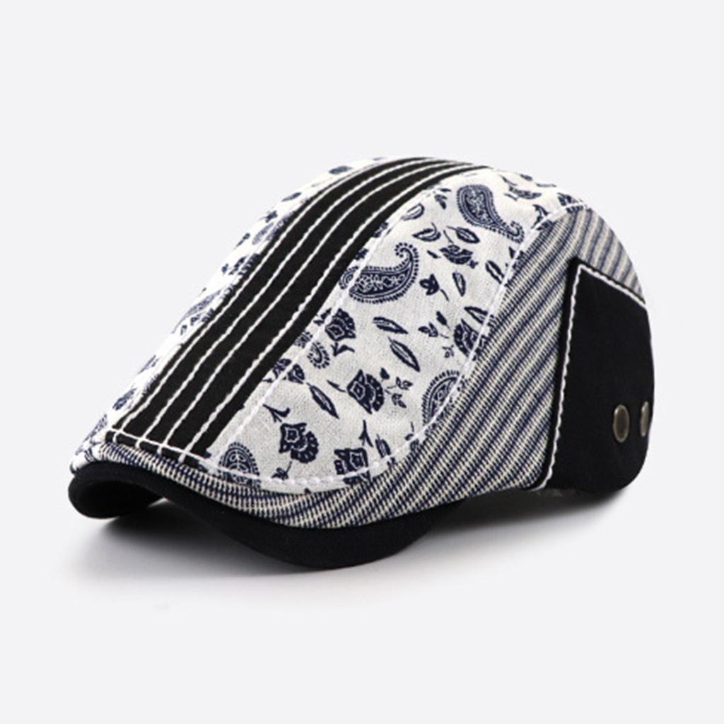 miniature 6 - Mode casquette plate Paisley gavroche chapeau casquette pour hommes rugissant