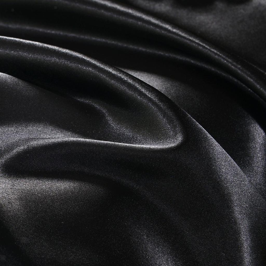 Indexbild 19 - 1 Paar Einfarbig Satin Soft Kissenbezüge Kopfkissenbezug, Farben Und Size