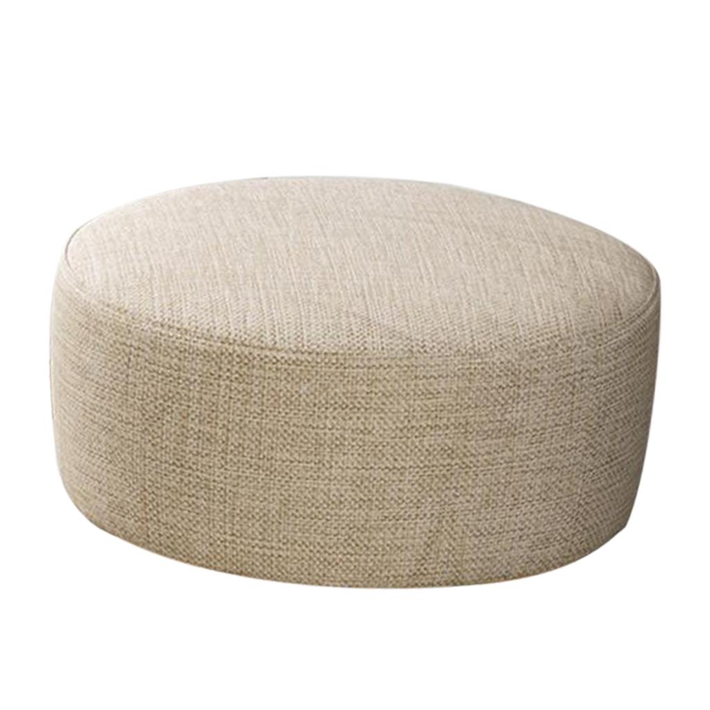 miniatura 36 - Cuscino-Pad-per-Sgabello-da-Bar-Fodera-Coprisedia-Rotonda-in-Tela-di-Cotone