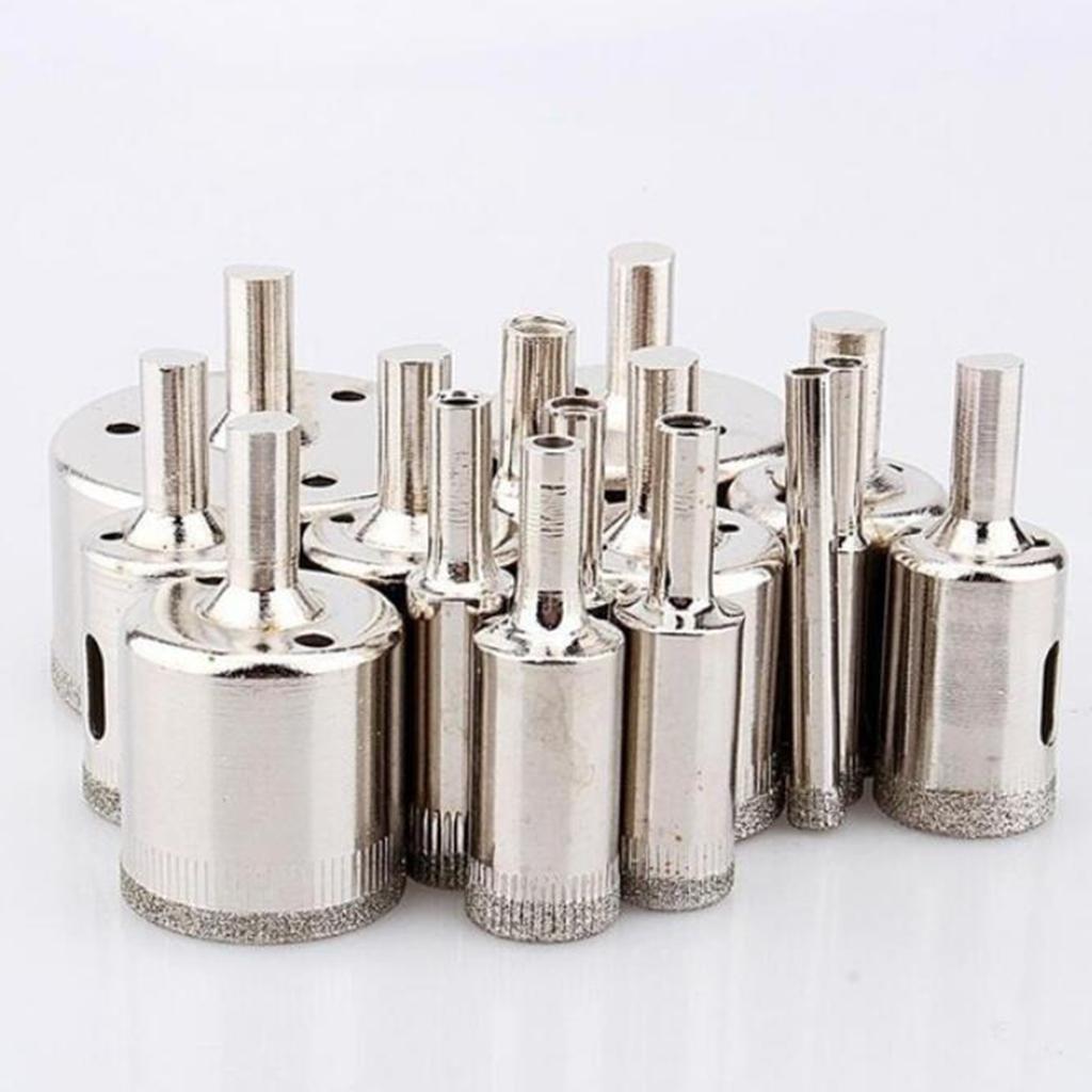 miniature 7 - 6-50MM diamant foret trou scie ensemble pour céramique porcelaine salle de bain