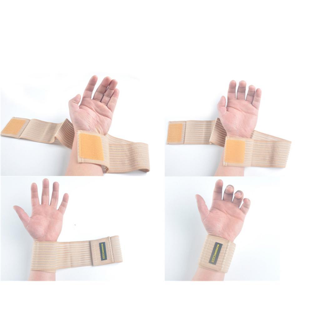 Atmungsaktive-elastische-Handgelenk-Kniebandage-Knoechel-Ellenbogen-Wadenbandage Indexbild 4