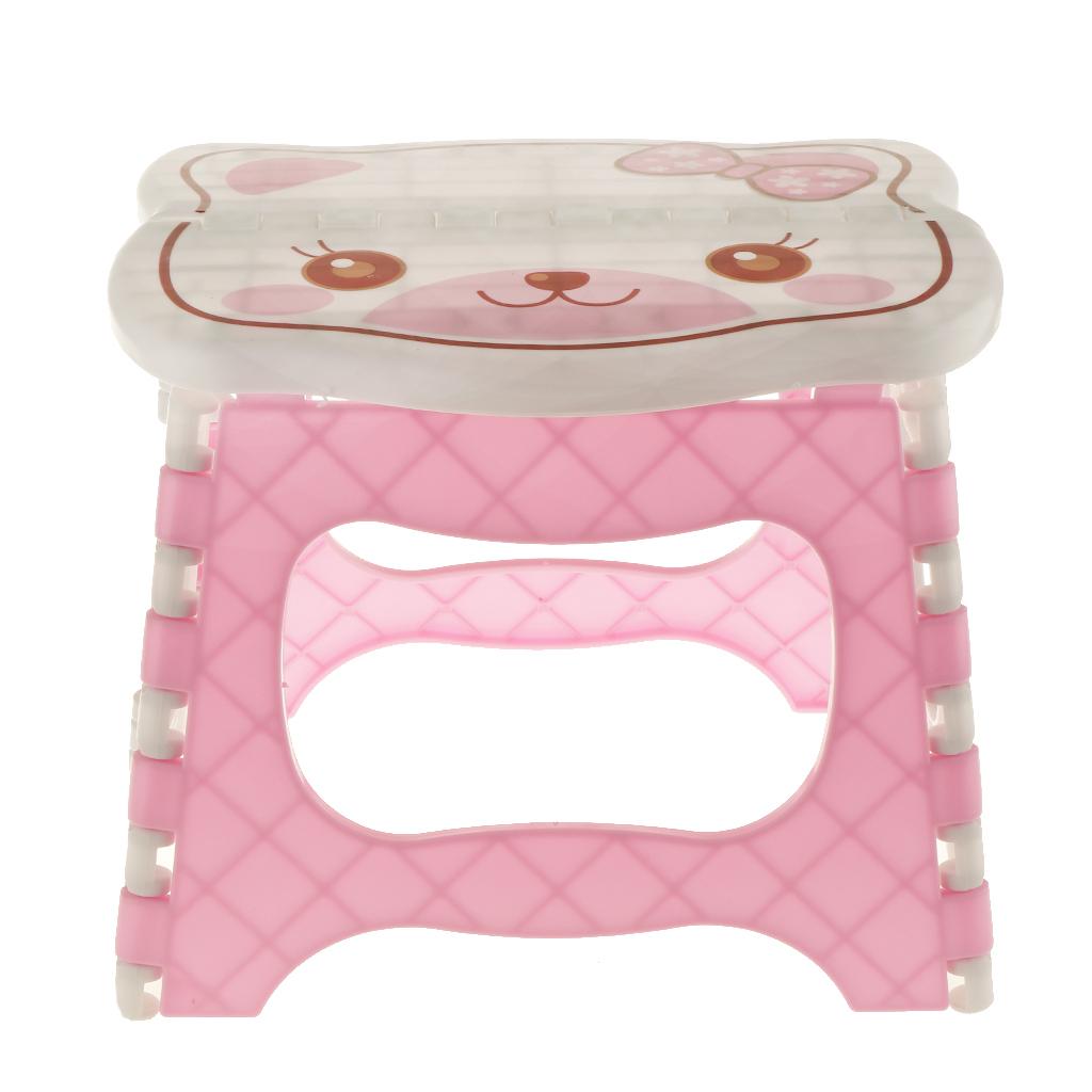 miniatura 4 - Simpatico sgabello pieghevole in plastica per la camera dei bambini