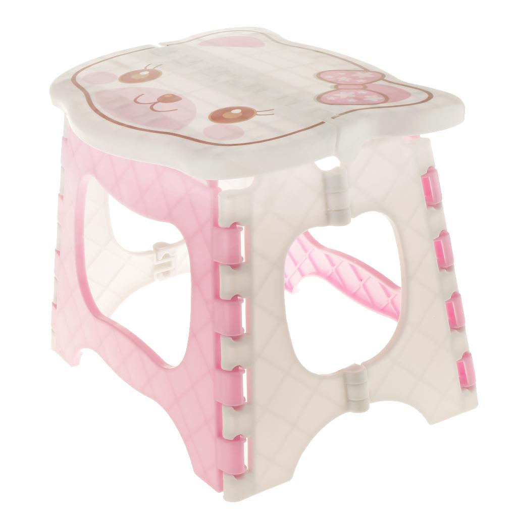 miniatura 3 - Simpatico sgabello pieghevole in plastica per la camera dei bambini