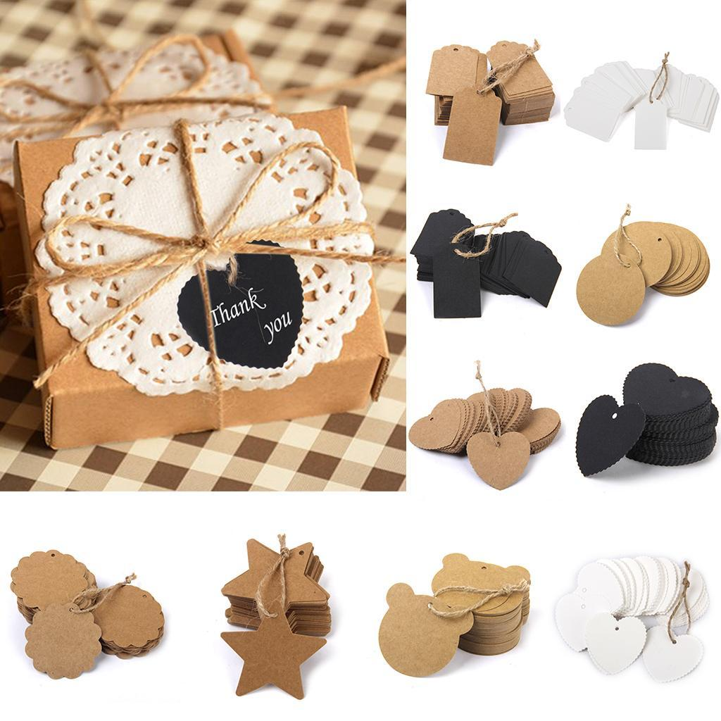 Details about  /Heart Shaped Kraft Paper Label Wedding Party Gifts Card Price Luggage Tags AA