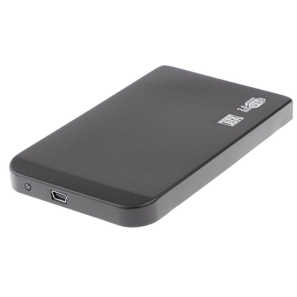 Custodia-esterna-in-alluminio-per-disco-rigido-SATA-USB-2-0-da-2-5-034-con-disco miniatura 9