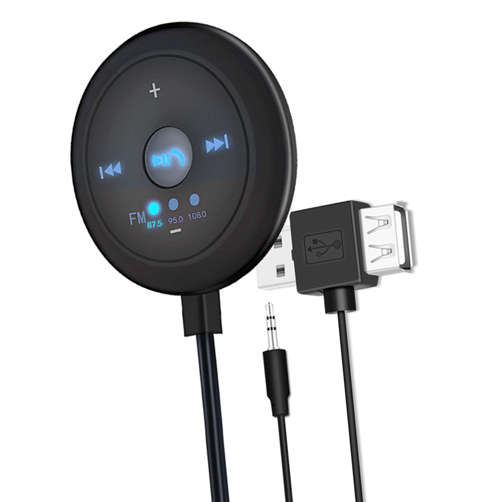 Indexbild 11 - AUX Audio Adapter 2 in 1 FM Transmitter Basis Eingebaute Mic 5x5x1,7 cm für