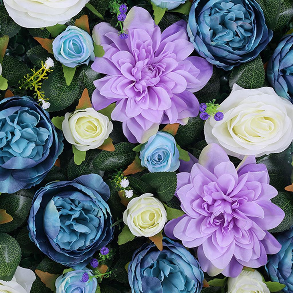 Artificial Rose Hydrangea Flowers Wall Panels Wedding ...