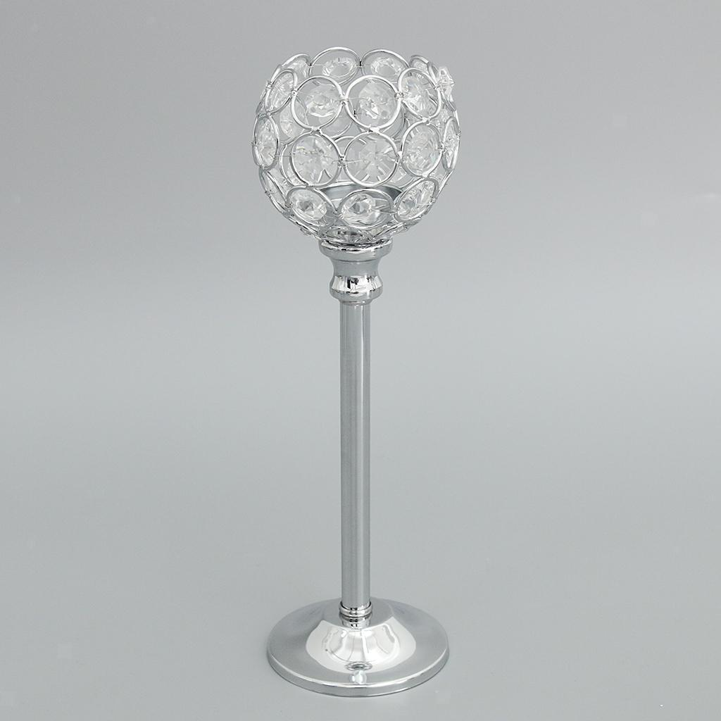 CRYSTAL-TABLE-STAND-CANDLE-HOLDER-CANDLESTICK-WEDDING-HOLIDAYS-CHRISTMAS-EVENTS thumbnail 36