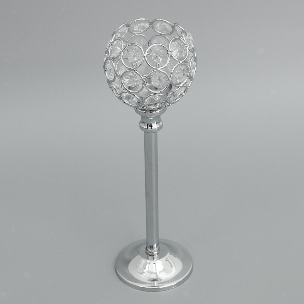 CRYSTAL-TABLE-STAND-CANDLE-HOLDER-CANDLESTICK-WEDDING-HOLIDAYS-CHRISTMAS-EVENTS thumbnail 37