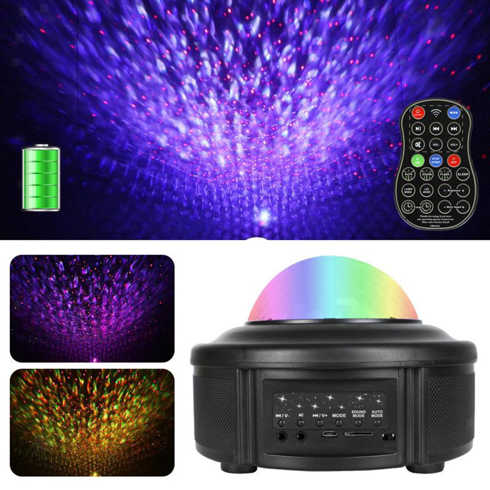 miniatura 3 - Bluetooth-LED-Galaxy-Proiettore-Lampada-notturna-stellata-Luce-notturna-a