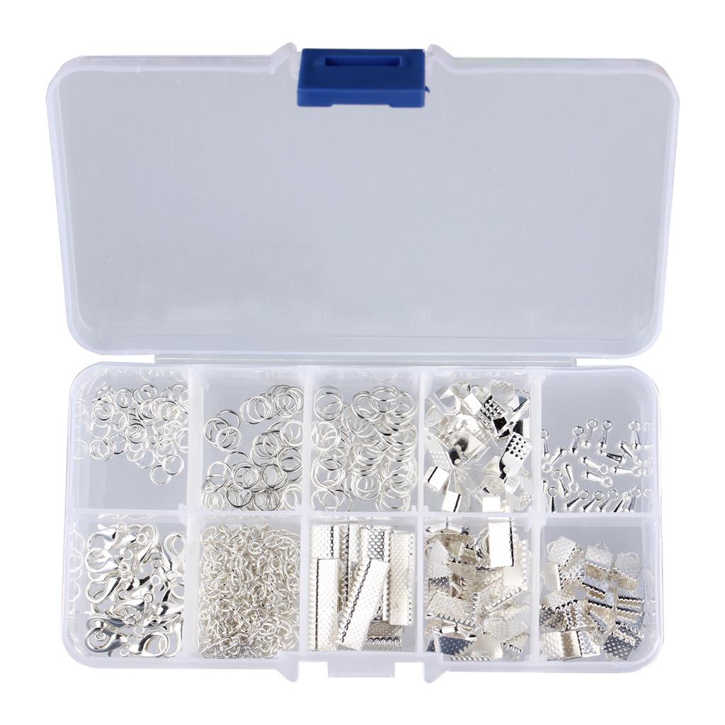 Schmuckherstellung-Set-Starter-Kit-Metall-Verschluss-Kettenverschluss-Karabiner Indexbild 6