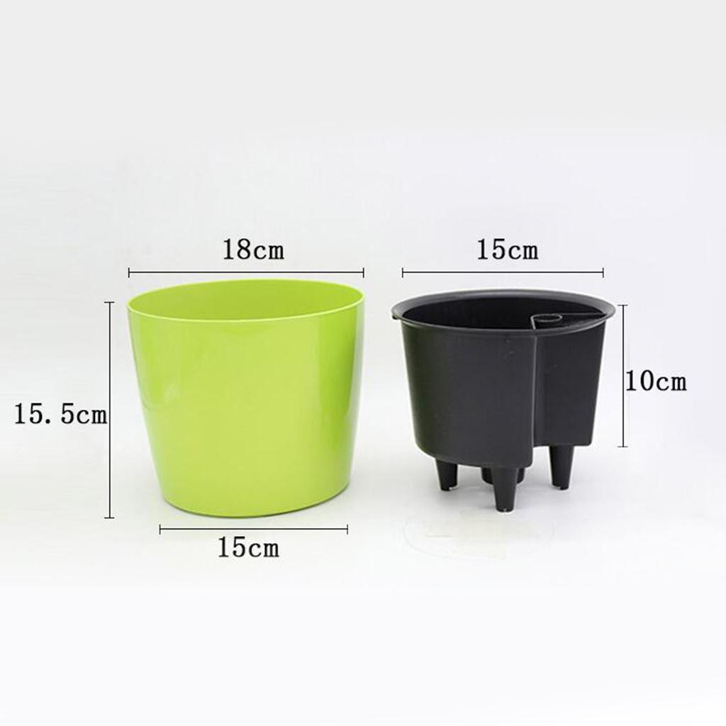 thumbnail 10 - 7''H Self-Watering Garden Planter for for House Plants Flowers Herbs Violets