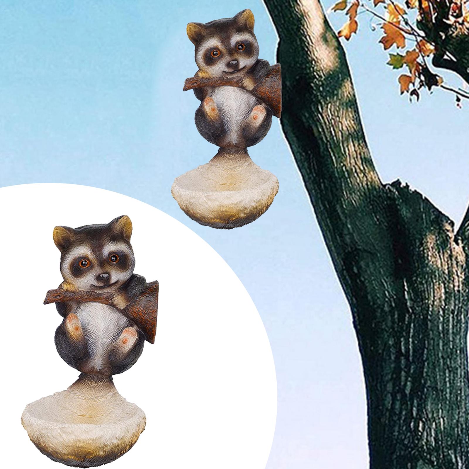 thumbnail 8 - Animal Sculpture Bird Feeder Home Outdoor Tree Decor Bird Feeding Tray