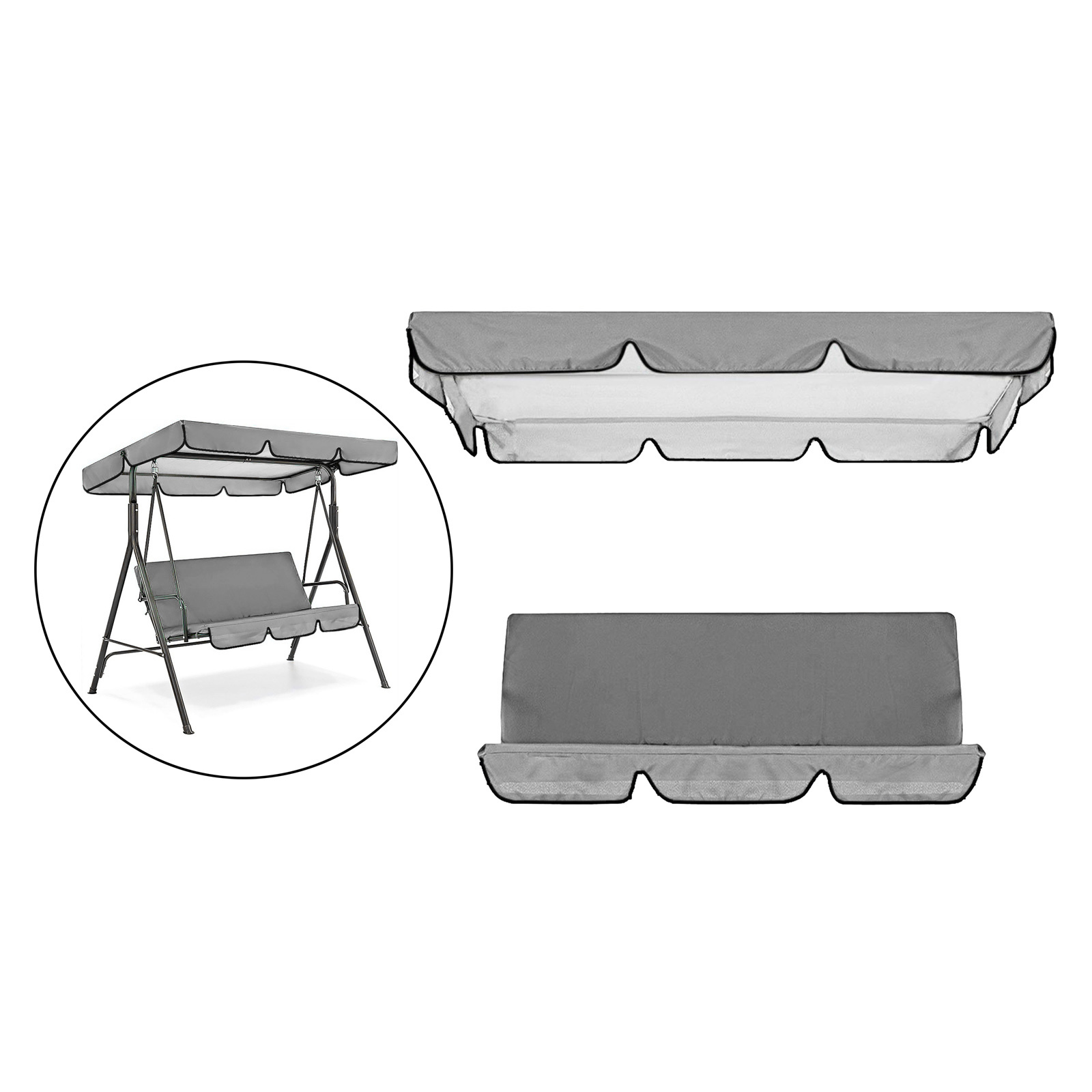 miniatura 33 - Sostituzione della copertura della sedia a dondolo da esterno per patio,