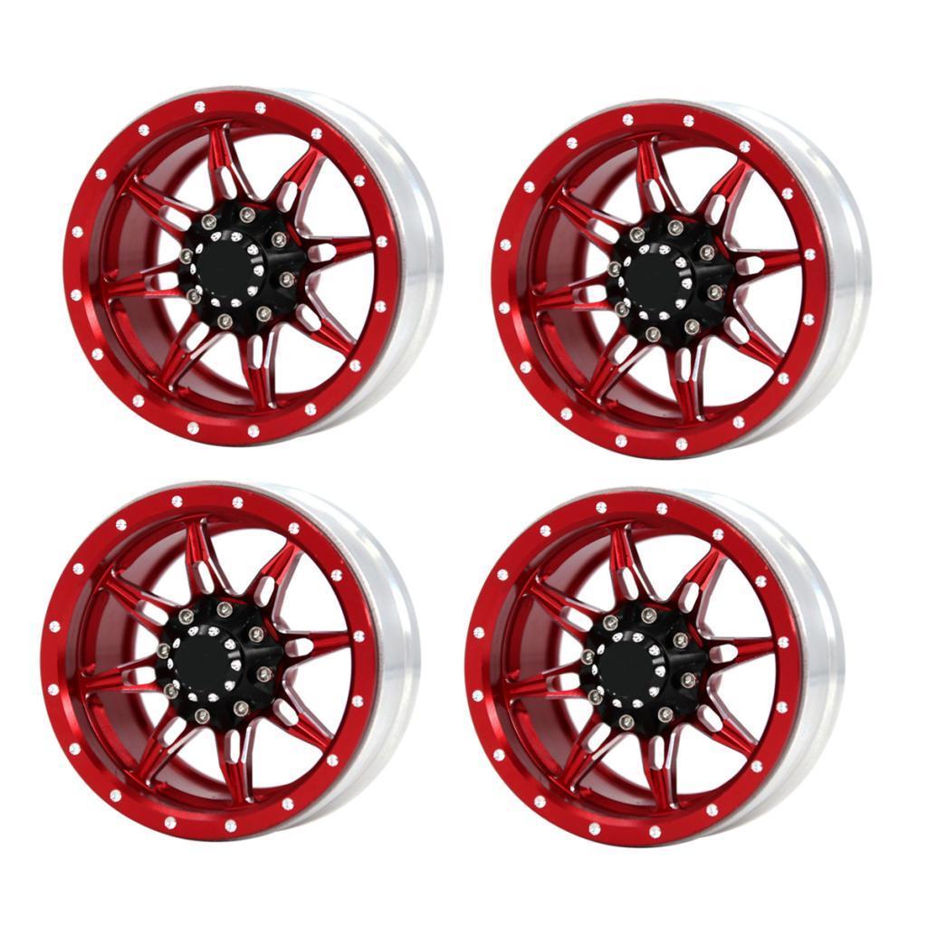 1-9inch-Beadlock-Wheel-Rims-Heavy-Duty-CNC-Aluminum-4pcs-Set-for-1-10-RC-Crawler thumbnail 4