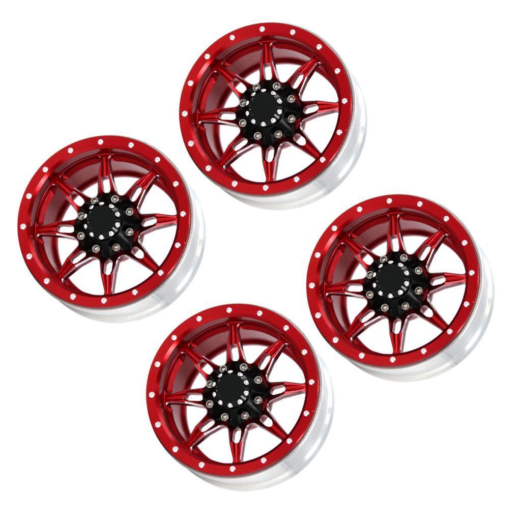 1-9inch-Beadlock-Wheel-Rims-Heavy-Duty-CNC-Aluminum-4pcs-Set-for-1-10-RC-Crawler thumbnail 3