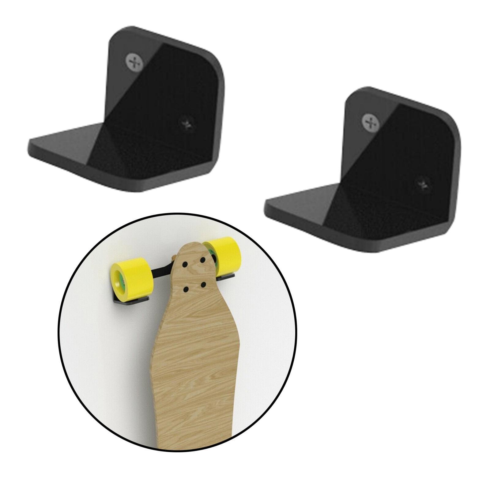 Espositore-appendiabiti-per-montaggio-a-parete-per-Skateboard-in-acrilico miniatura 19