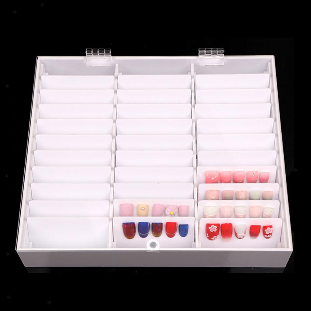 30Grids-Acrylnagelspitzen-Zeigen-Entfernbare-Falsche-Nagelkunst-Aufbewahrungsbox Indexbild 4
