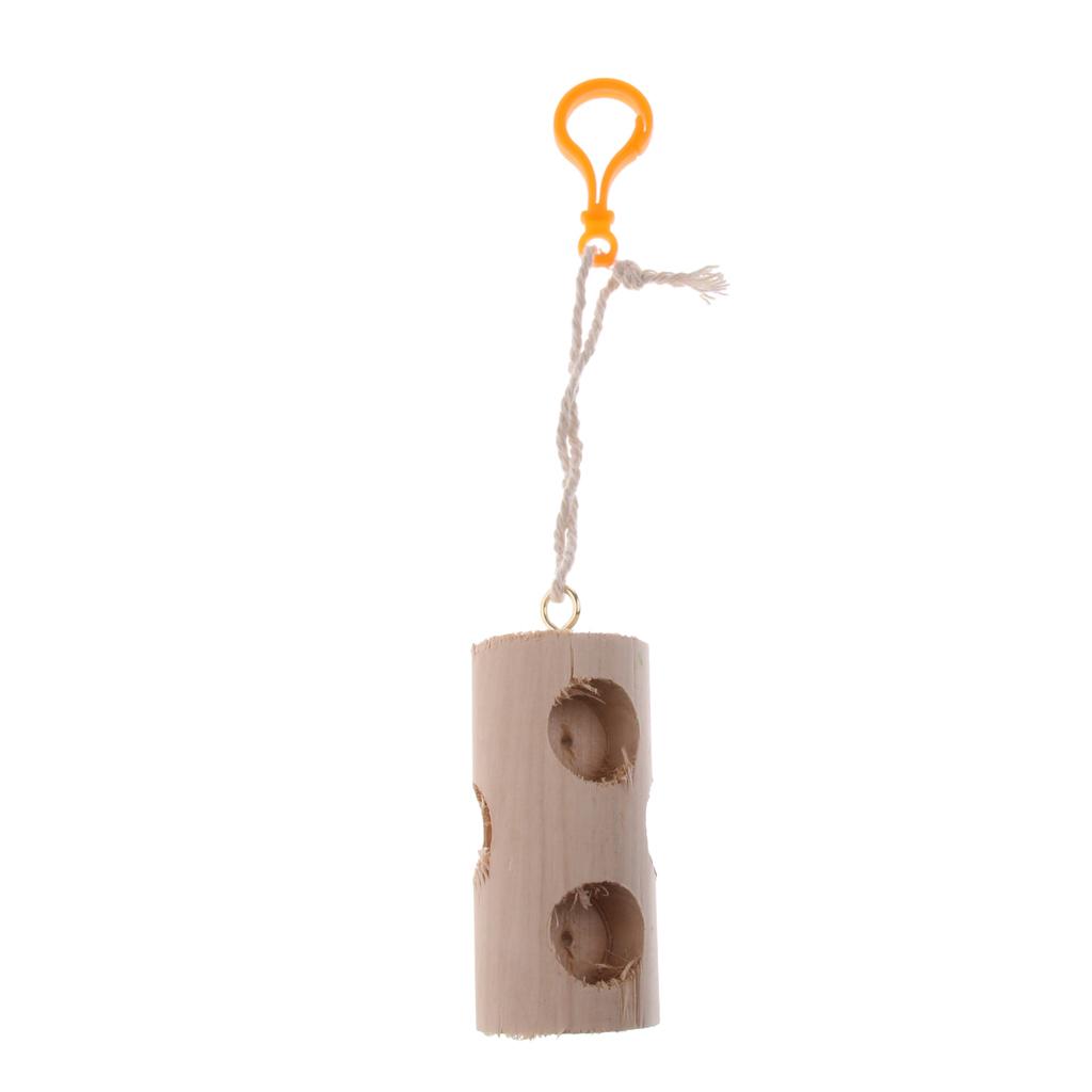 miniatura 24 - Pappagallo in legno per uccelli Giocattolo da masticare Giocattolo da masticare
