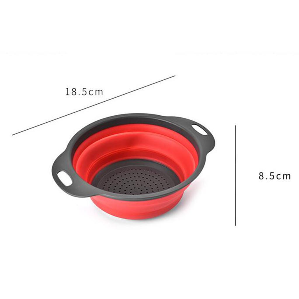 miniatura 10 - Utensili da cucina per la casa, scolapasta / colino / cestello pieghevole in
