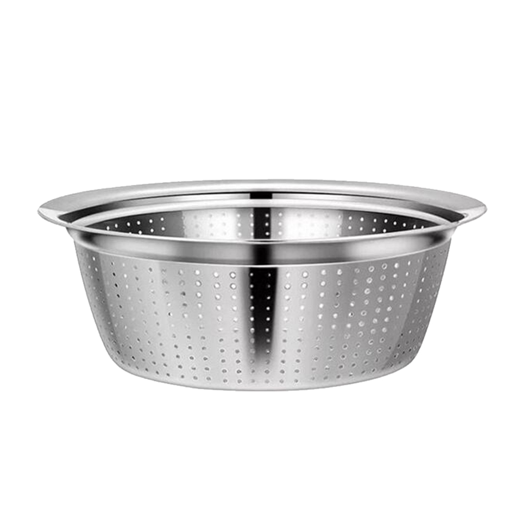 Large-Metal-Pasta-Vegetable-Strainer-Colander-Kitchen-Rice-Sifter-Sieve thumbnail 3