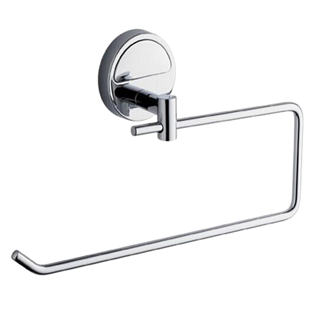 Bagno-A-Parete-A-Mano-Anello-Di-Tovagliolo-Cromo-Lucido miniatura 8