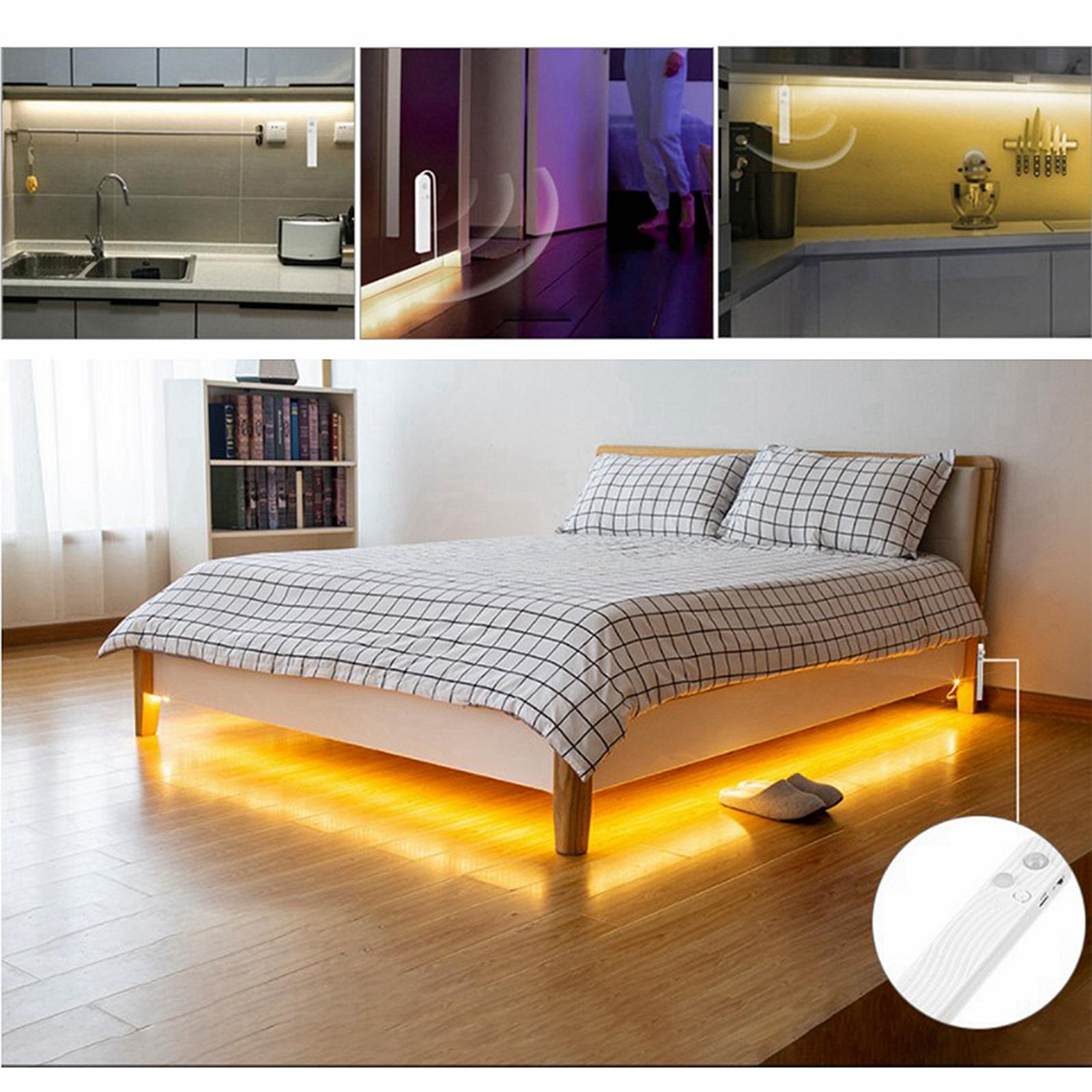 miniature 7 - LED Bande Nuit Lumières 3000k/6000k De Chevet 60LED Bande Lampe Chaud/Froid