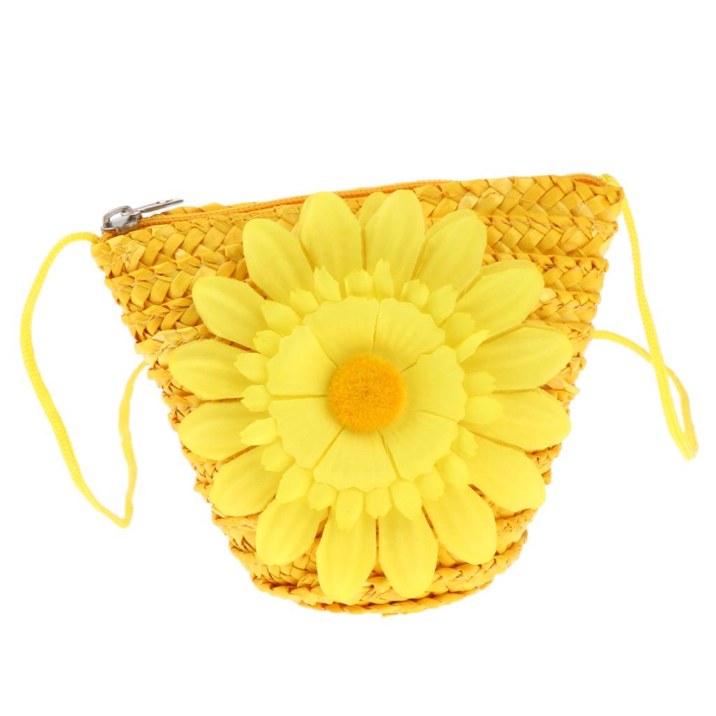 Rattan-Umhaengetasche-Handgewebte-Handtasche-Damen-Strohbeutel-Strand Indexbild 6
