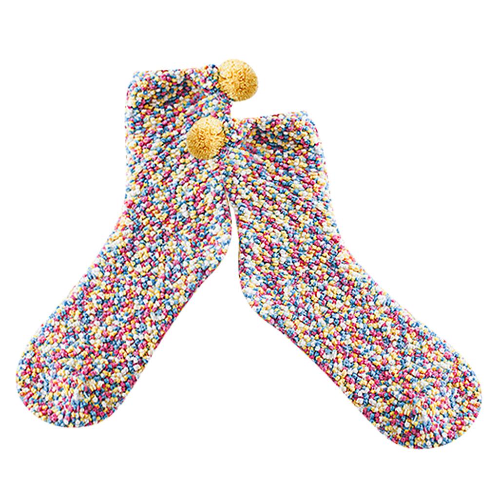 Paire-de-Chausson-Chaussette-Femme-Chaussette-Noel-Hiver-Chaude-Antiderapantes miniature 24