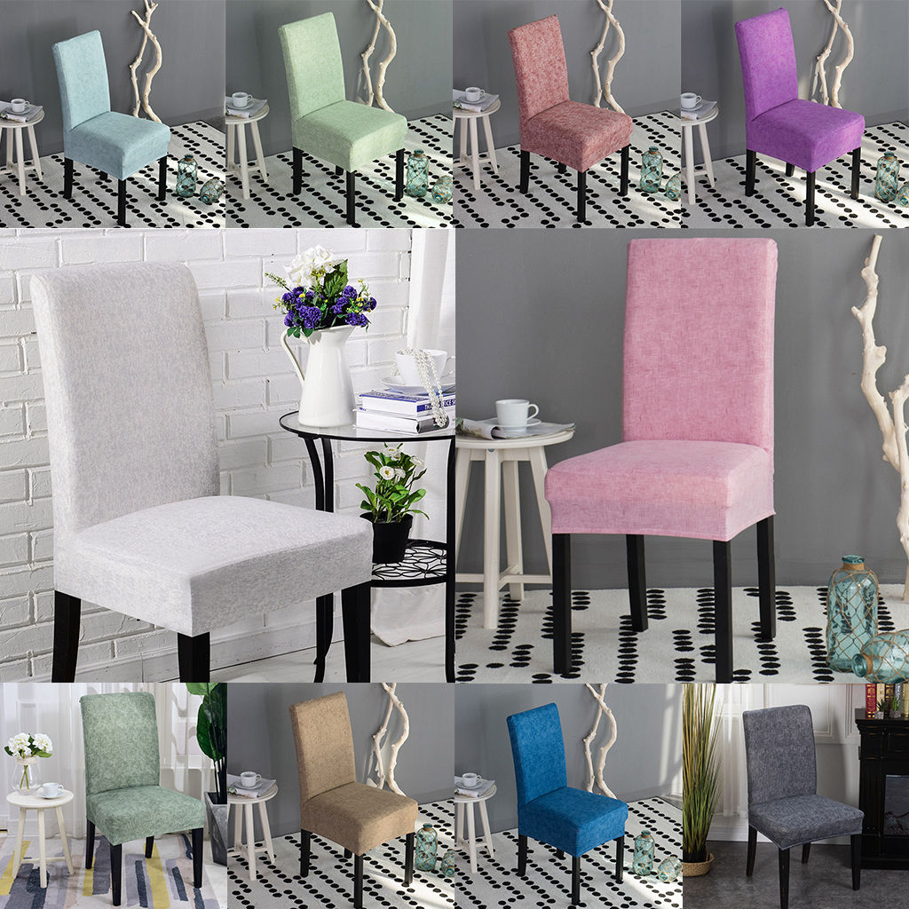 Universal Stretch silla de comedor taburete taburete de referencia asiento