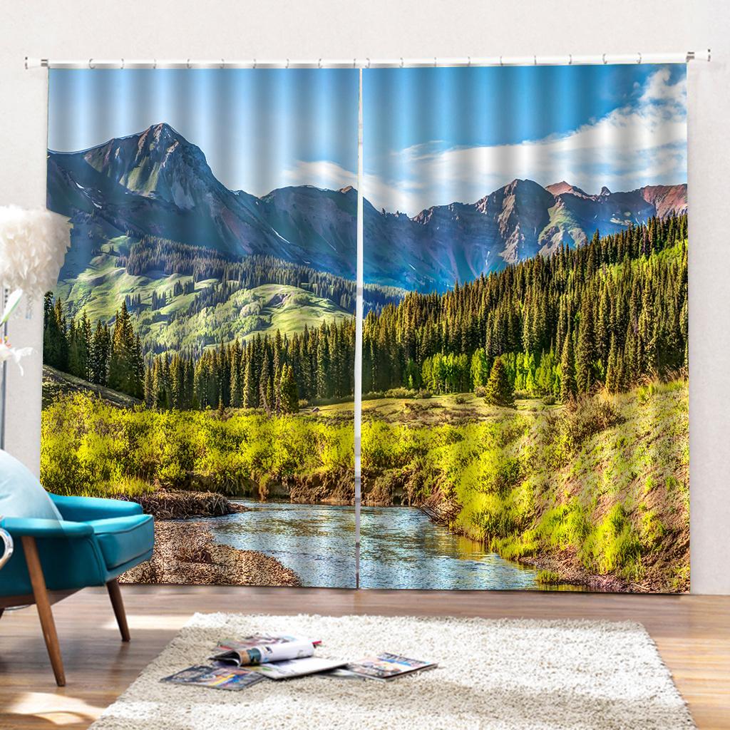 Cortinas opacas, cortinas de dormitorio con sala de estar y cortinas de