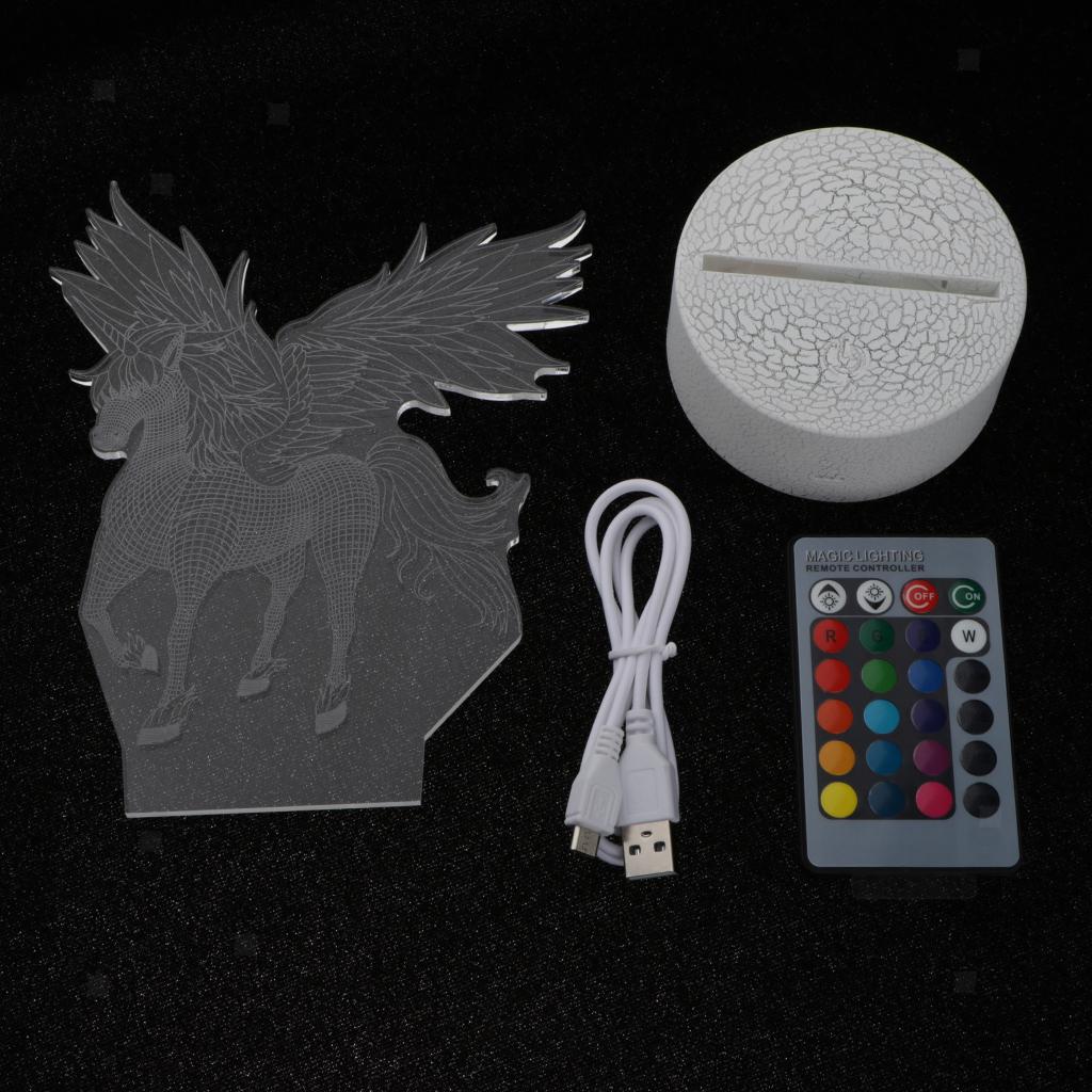 5V-Unicorn-Night-Light-Acrylic-Visual-Lamp-Touch-Control-Kid-039-s-Room-Decor thumbnail 11
