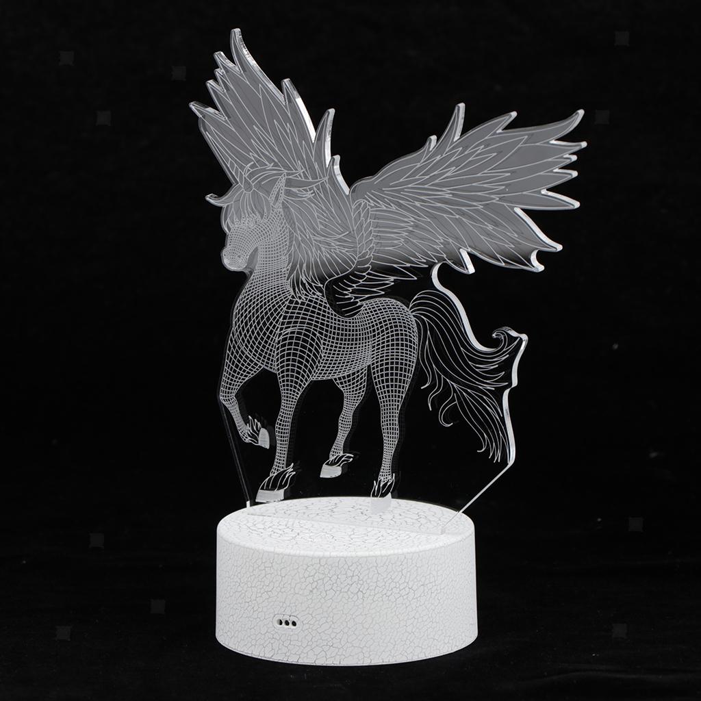 5V-Unicorn-Night-Light-Acrylic-Visual-Lamp-Touch-Control-Kid-039-s-Room-Decor thumbnail 9