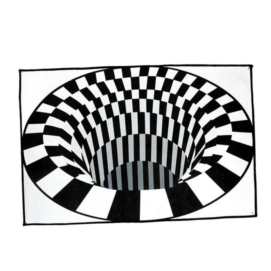 Tappeti-rettangolari-3D-Illusion-Tappetini-per-camera-da-letto-Vortex-Tappeti miniatura 3