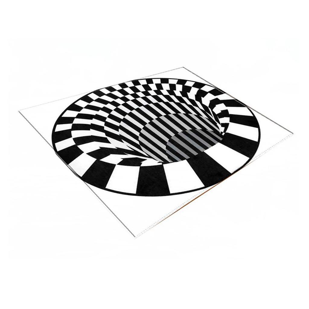 Tappeti-rettangolari-3D-Illusion-Tappetini-per-camera-da-letto-Vortex-Tappeti miniatura 4
