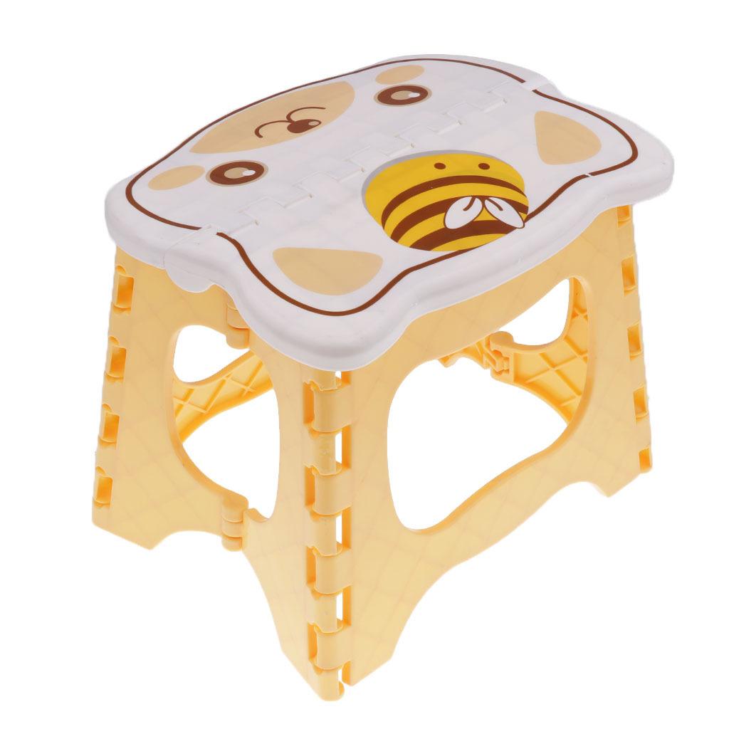 miniatura 7 - Simpatico sgabello pieghevole in plastica per la camera dei bambini