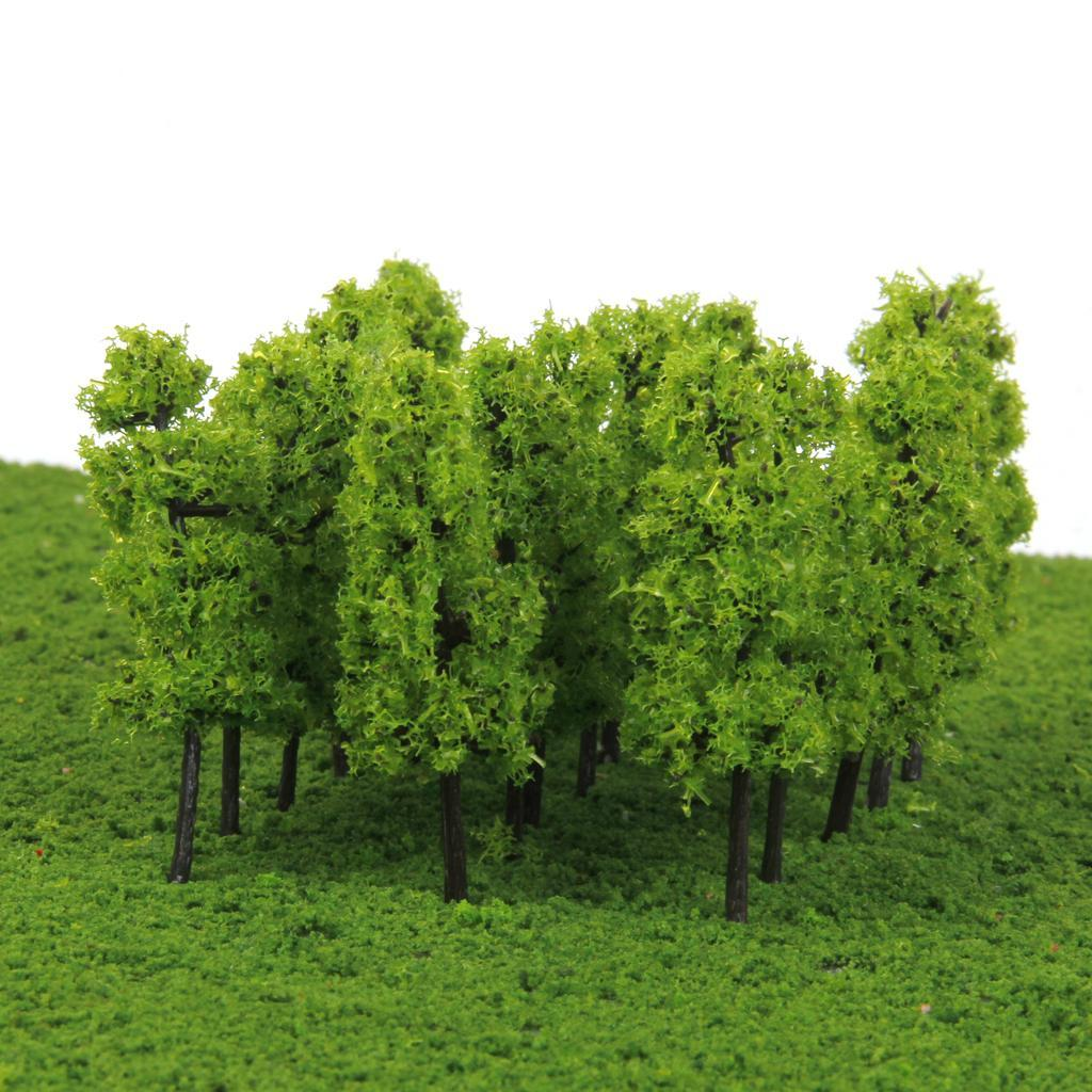 1:250 Landschaft Modellbaum Modell Pflanzen Bäume für Eisenbahn 40 stk