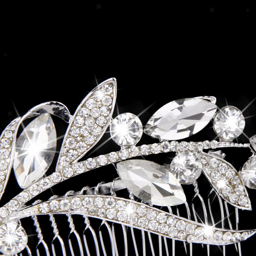 Wedding-Party-Flower-Crystal-Rhinestone-Bridal-Hair-Comb-Clip-Hair-Accessory thumbnail 10