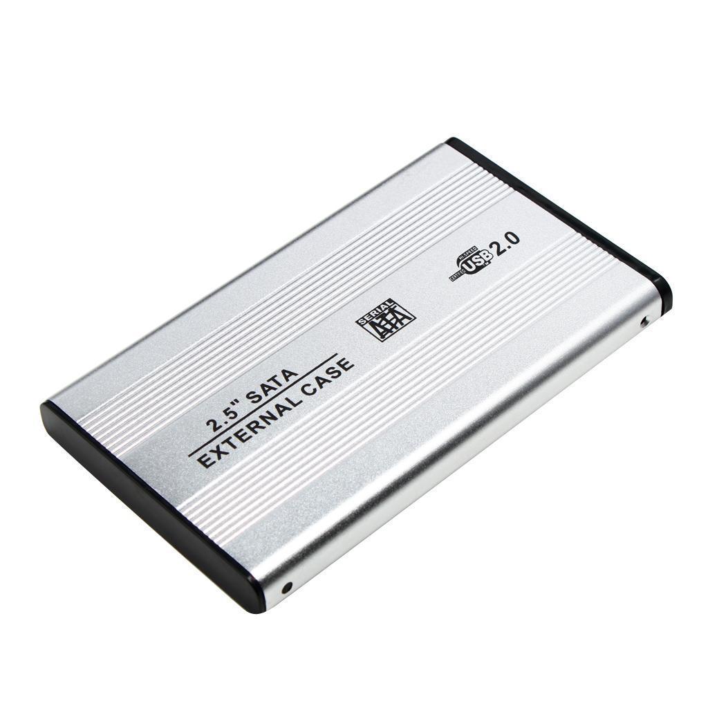 Custodia-esterna-in-alluminio-per-disco-rigido-SATA-USB-2-0-da-2-5-034-con-disco miniatura 12